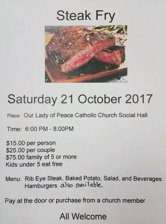 Steak Fry @ Our Lady of Peace
