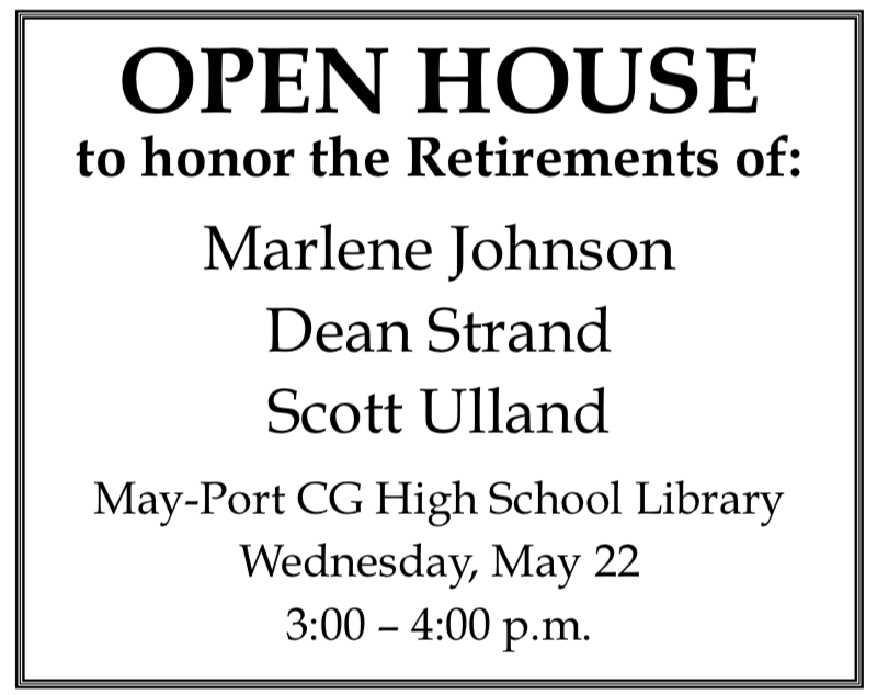 MPCG Retirement Open House @ May-Port CG High School Library
